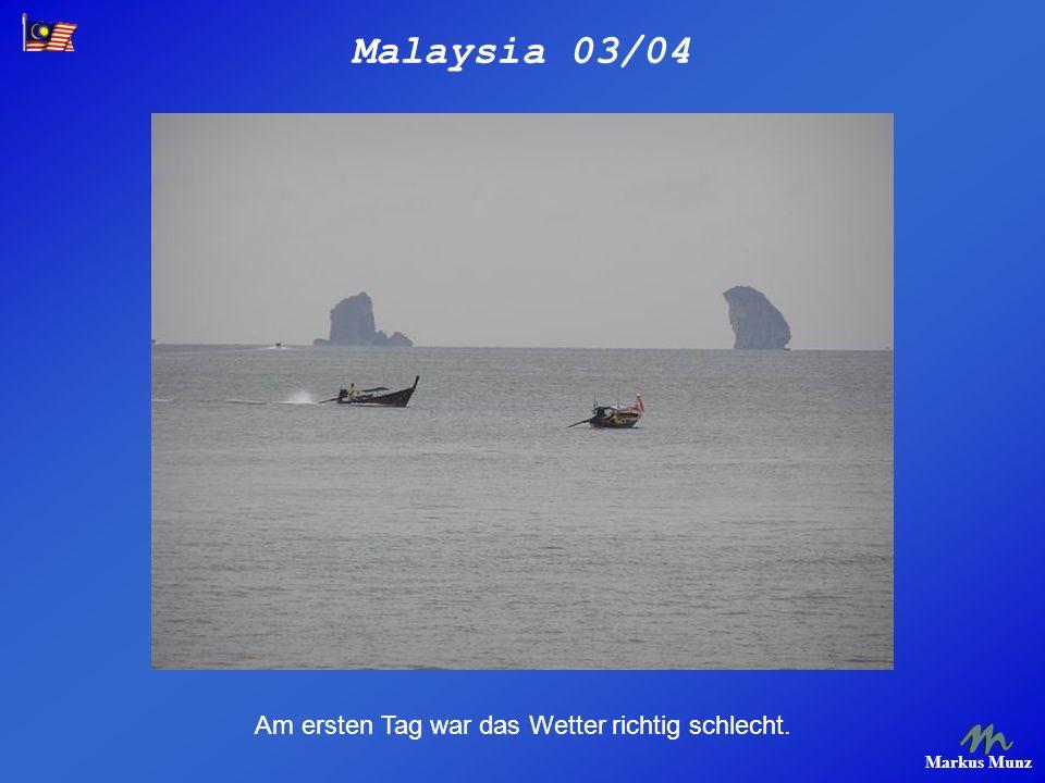 Malaysia 03/04 Markus Munz Am Railay Beach.