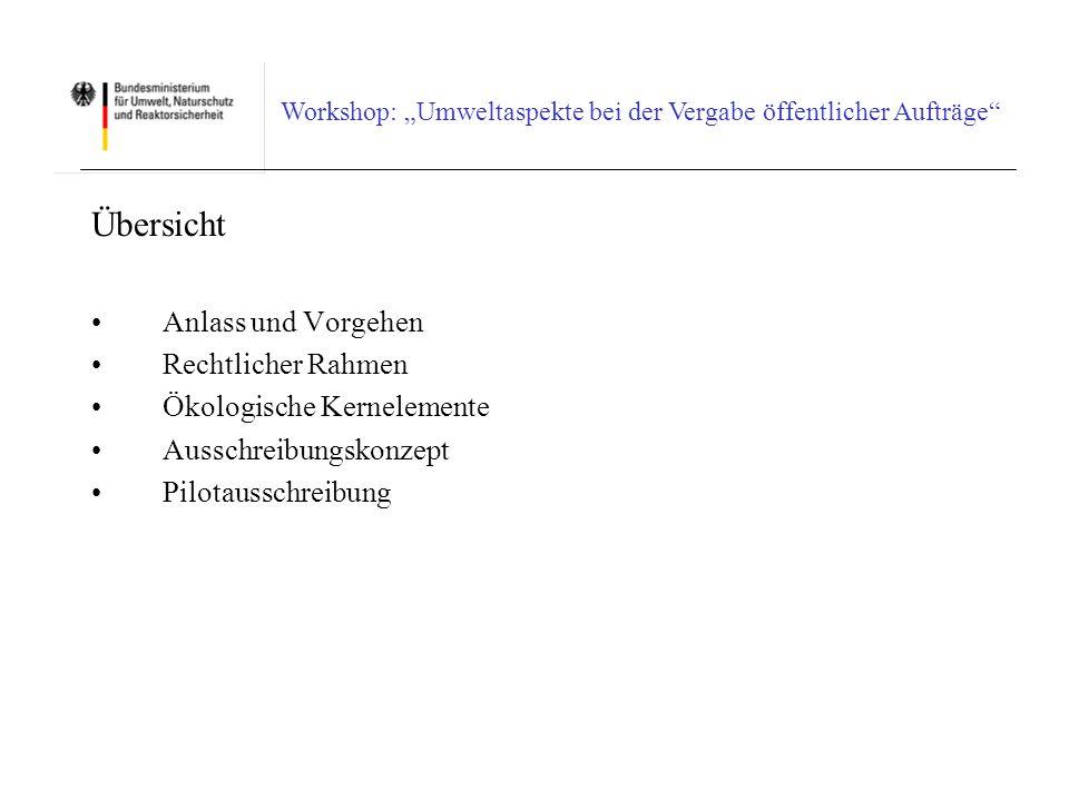 Workshop: Umweltaspekte bei der Vergabe öffentlicher Aufträge Europäischer Rechtsrahmen III Wienstrom vom 4.