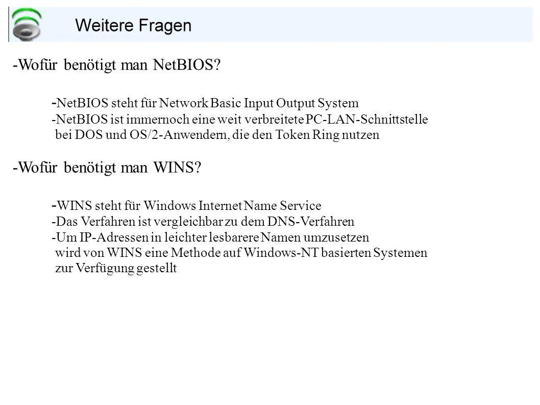 -Warum muss man bei einem Samba Server NTUSER und NTCLIENTS anlegen.