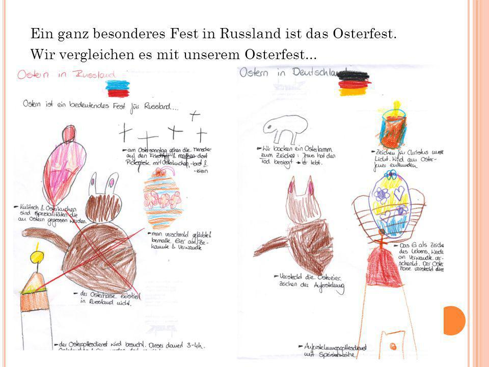 Ein ganz besonderes Fest in Russland ist das Osterfest. Wir vergleichen es mit unserem Osterfest...