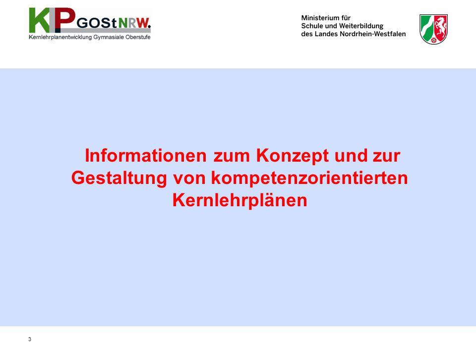 Informationen zum Konzept und zur Gestaltung von kompetenzorientierten Kernlehrplänen 3