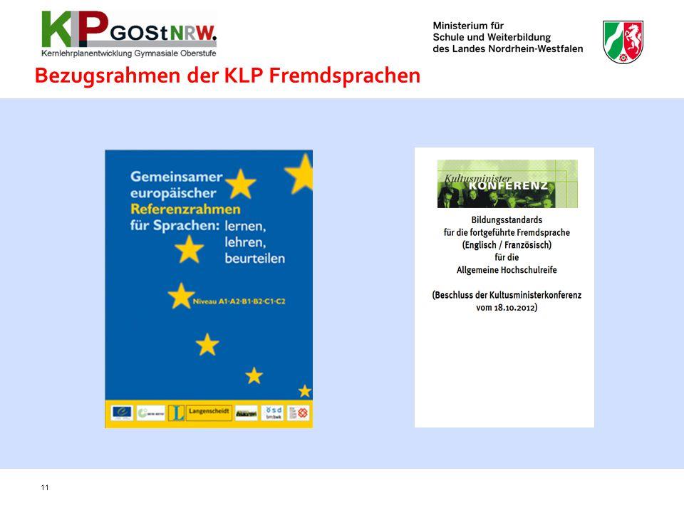 Bezugsrahmen der KLP Fremdsprachen 11