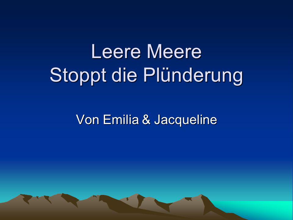 Leere Meere Stoppt die Plünderung Von Emilia & Jacqueline