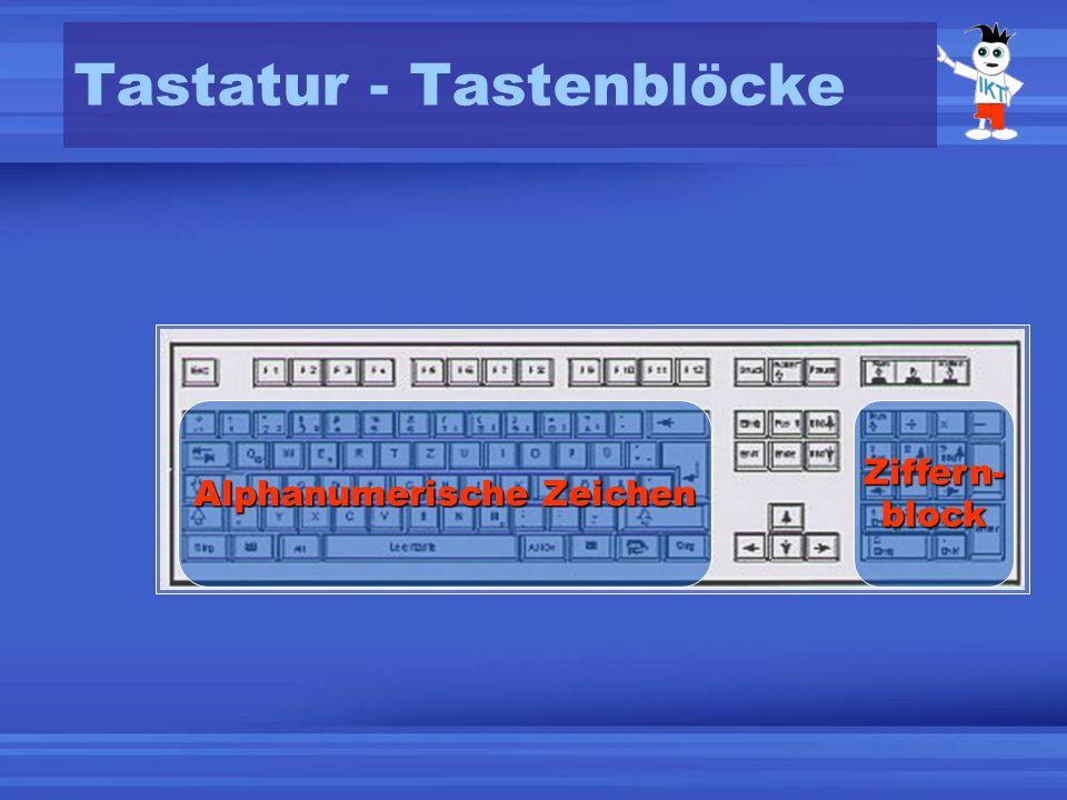 Tastatur - Tastenblöcke Bewegung-tasten Funktionstasten