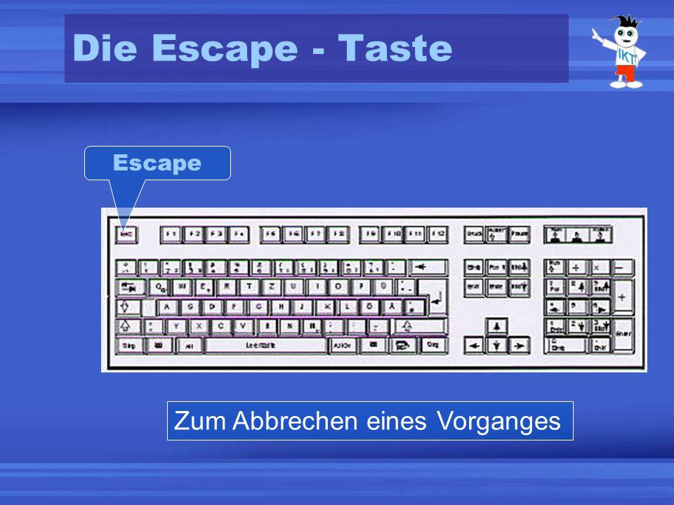 Die Escape - Taste Zum Abbrechen eines Vorganges Escape