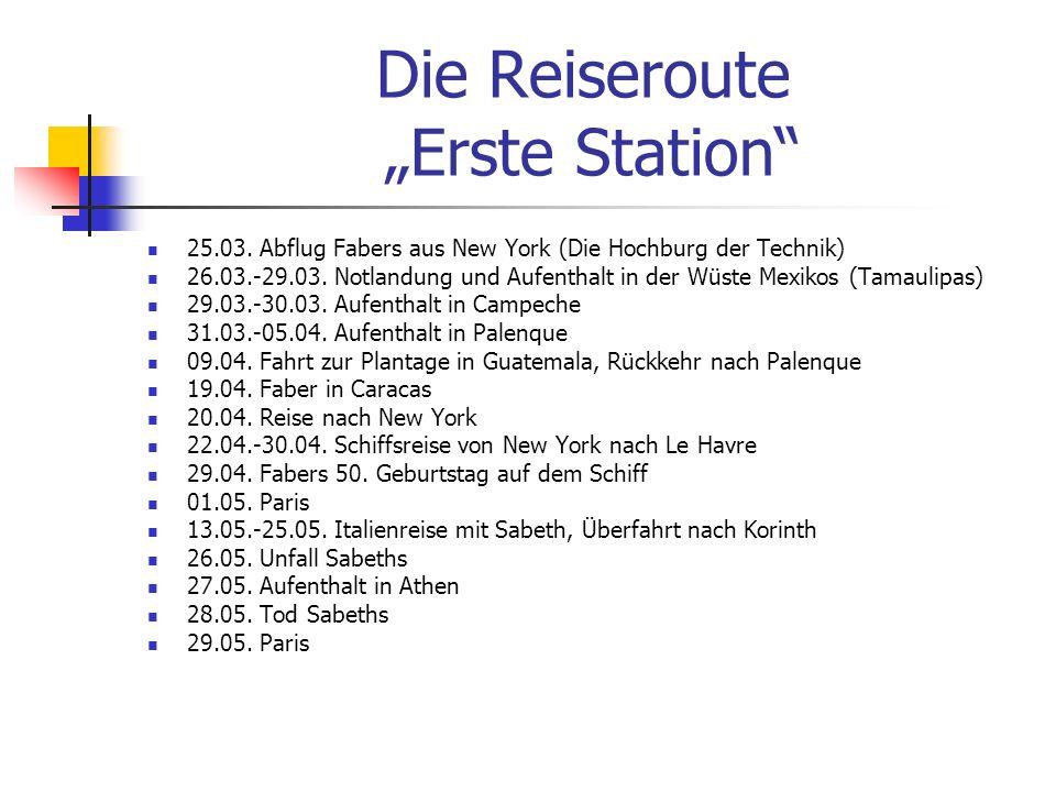 Die Reiseroute zweite Station 31.05.-01.06.Faber befindet sich wieder in New York 02.06.