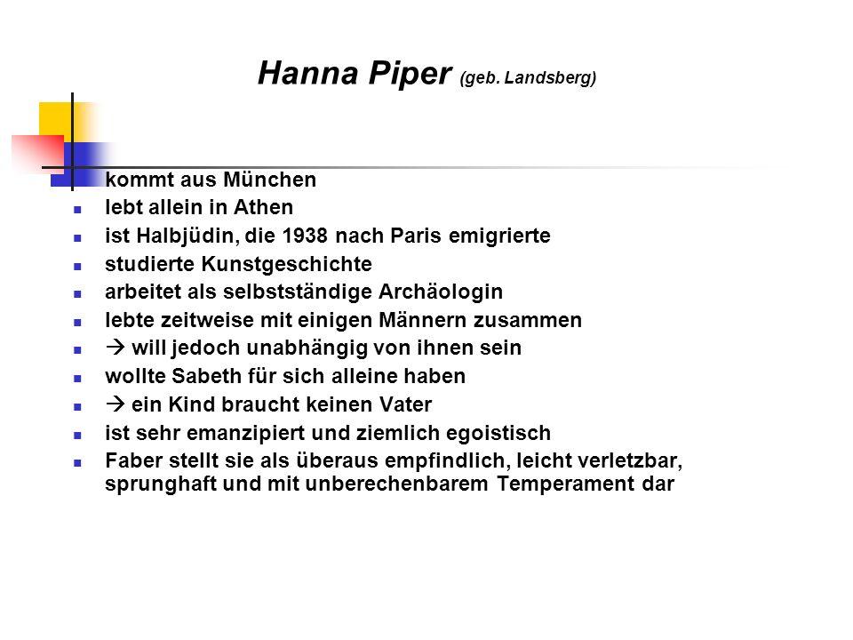 Herbert Hencke ist Joachims Bruder stammt aus Düsseldorf trifft Walter Faber auf der Reise war im 2.