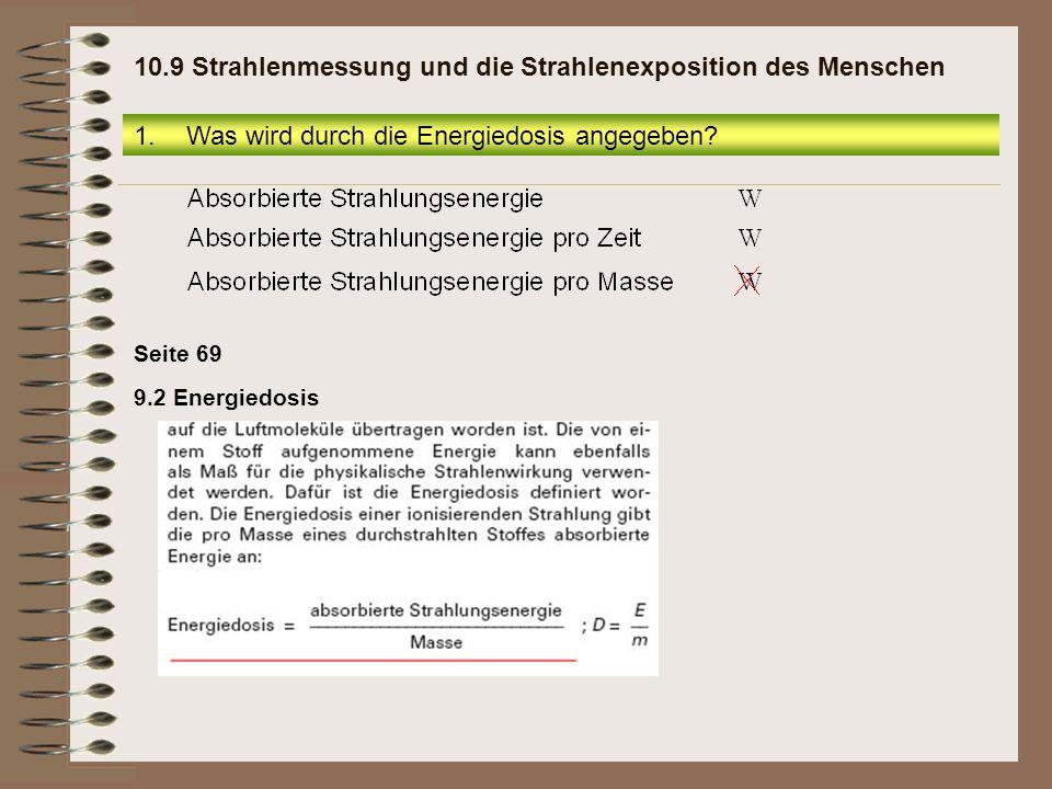 13.Die terrestrische Strahlung 10.9 Strahlenmessung und die Strahlenexposition des Menschen
