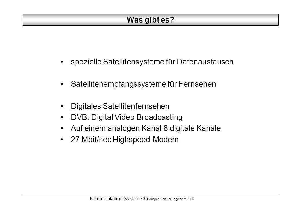 Kommunikationssysteme 3 © Jürgen Schüler, Ingelheim 2006 Was gibt es.