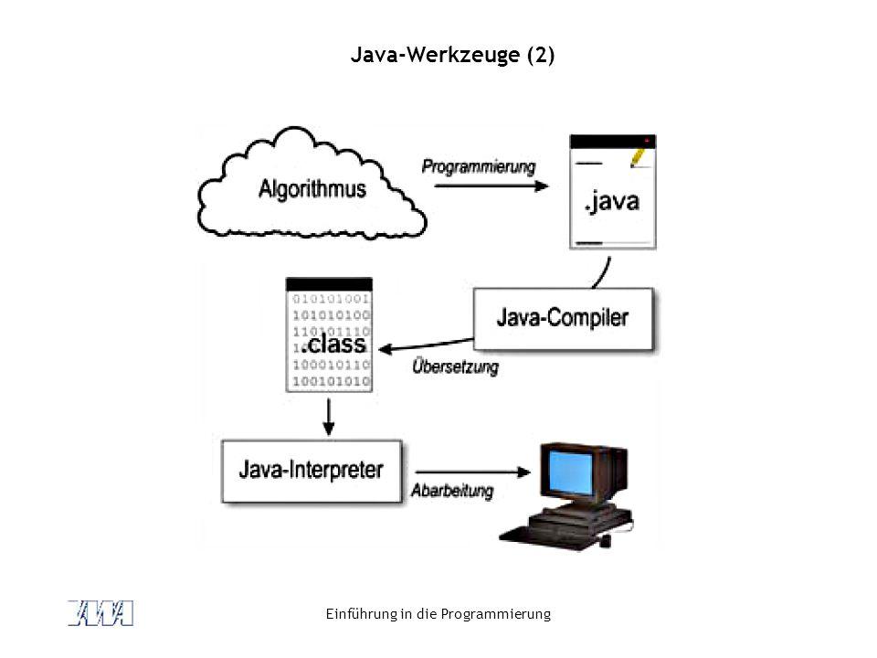 Einführung in die Programmierung Java-Werkzeuge (2)