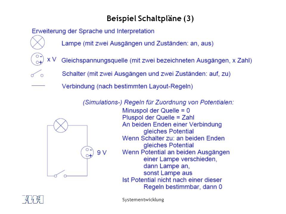 Systementwicklung Beispiel Schaltpläne (3)