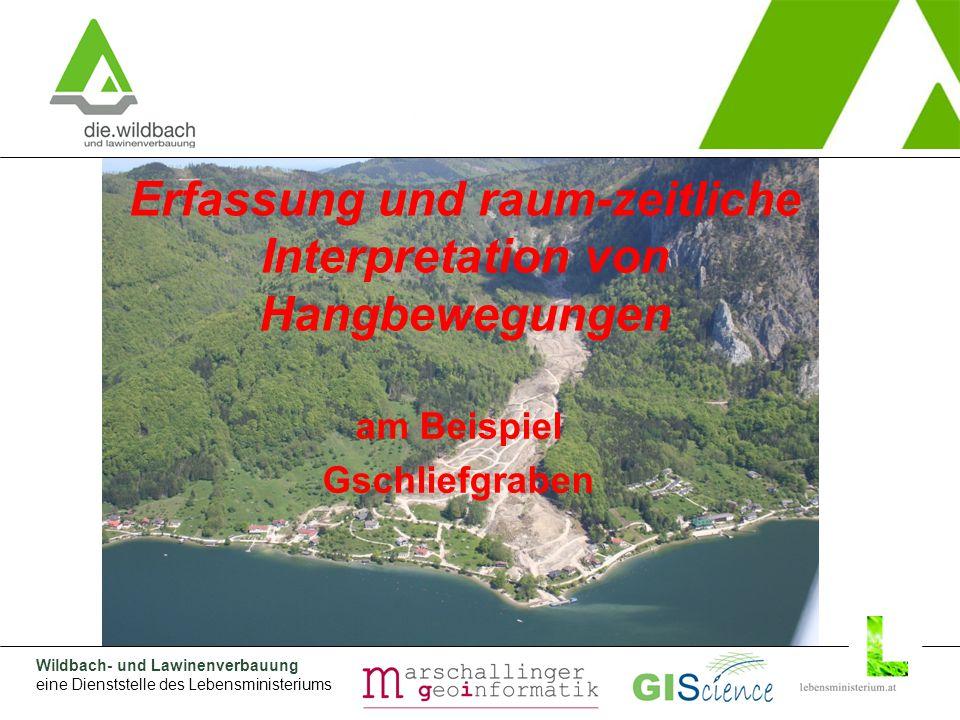 Wildbach- und Lawinenverbauung eine Dienststelle des Lebensministeriums Gegenmaßnahmen Bewegungsanalyse (II)