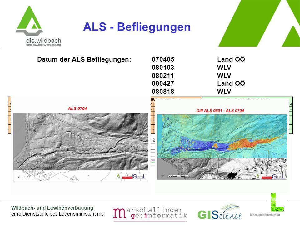 Wildbach- und Lawinenverbauung eine Dienststelle des Lebensministeriums Warum GPS: Rutschungsausmaß war nicht abschätzbar.