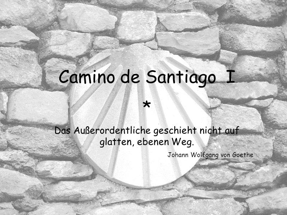 Camino de Santiago I * Das Außerordentliche geschieht nicht auf glatten, ebenen Weg.