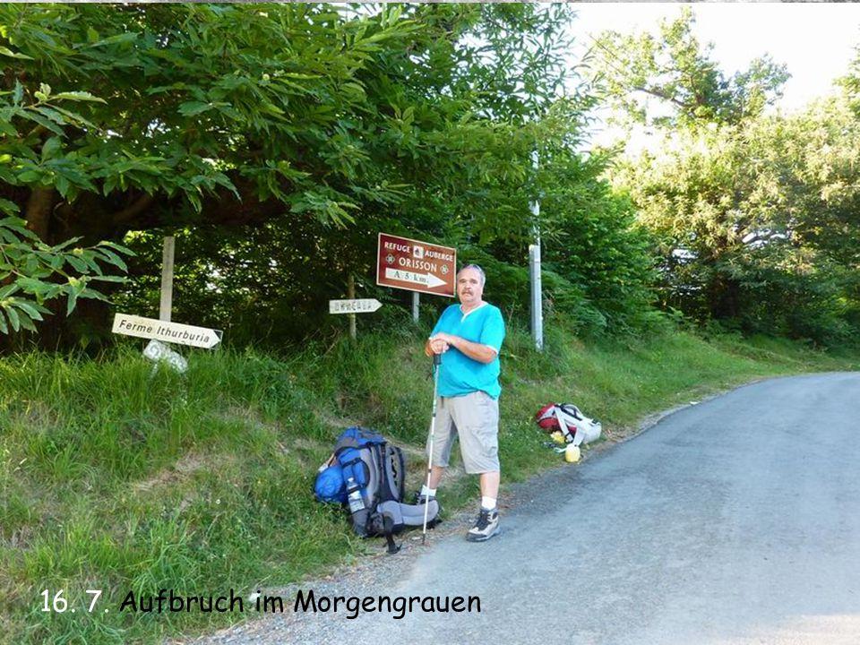 20. 7. Nach 85 km am Alto de Perdon
