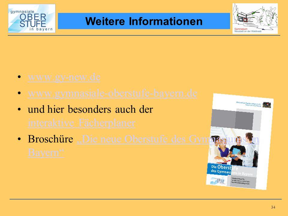 34 www.gy-new.de www.gymnasiale-oberstufe-bayern.de und hier besonders auch der interaktive Fächerplaner interaktive Fächerplaner Broschüre Die neue O