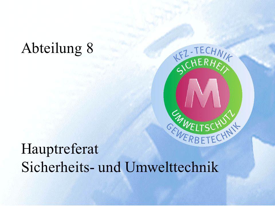 Referat Kraftfahrwesen Referat Gewerbetechnik Referat Bautechnik 23 Bedienstete, davon 19 HTL oder TU