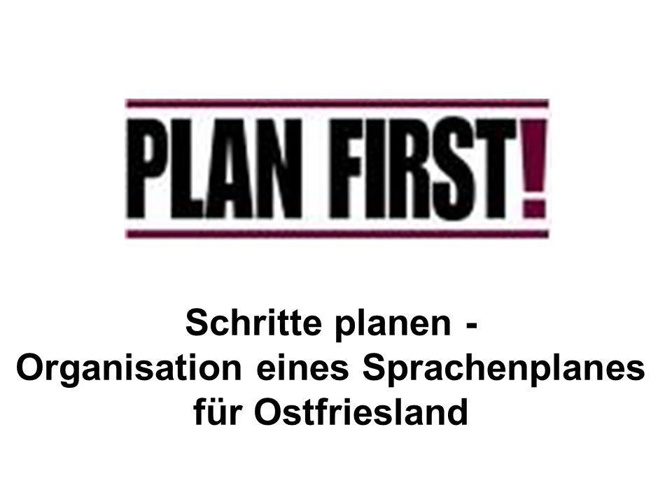 Schritte planen - Organisation eines Sprachenplanes für Ostfriesland