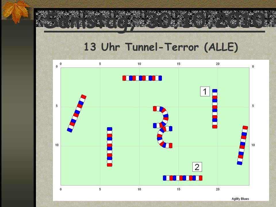 Samstag, 30.10.2010 13 Uhr Tunnel-Terror (ALLE)