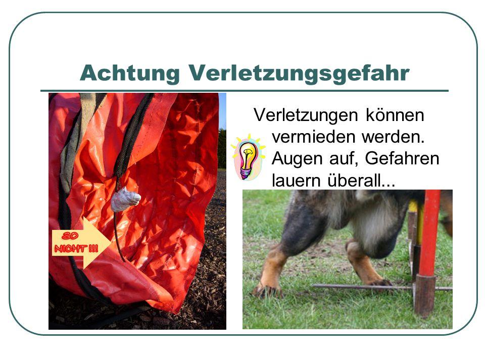 Achtung Verletzungsgefahr Verletzungen können vermieden werden.