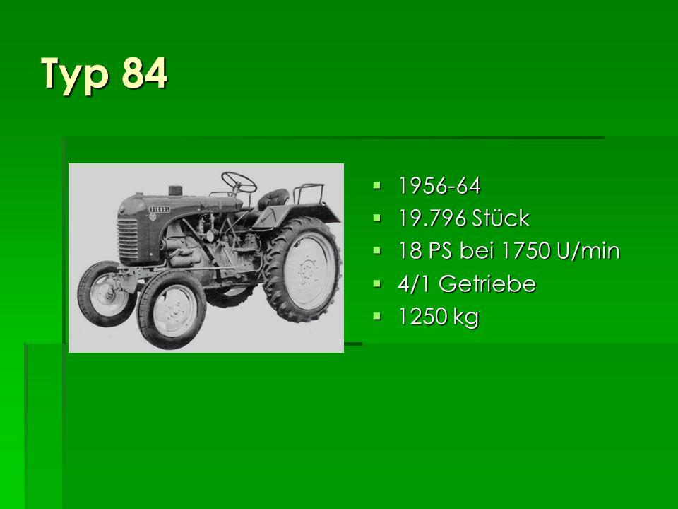 Typ 80s 1951-63 1951-63 367 Stück 367 Stück 15 PS bei 1600 U/min 15 PS bei 1600 U/min 4/1 Getriebe 4/1 Getriebe 1180 kg 1180 kg Schmalspur Schmalspur
