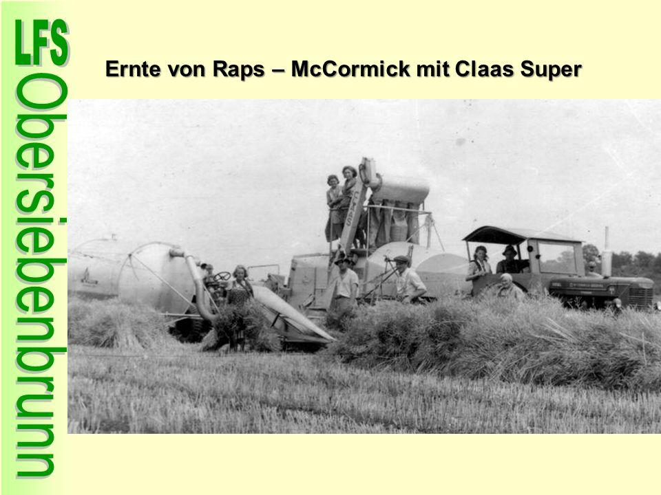 Ernte von Raps – McCormick mit Claas Super