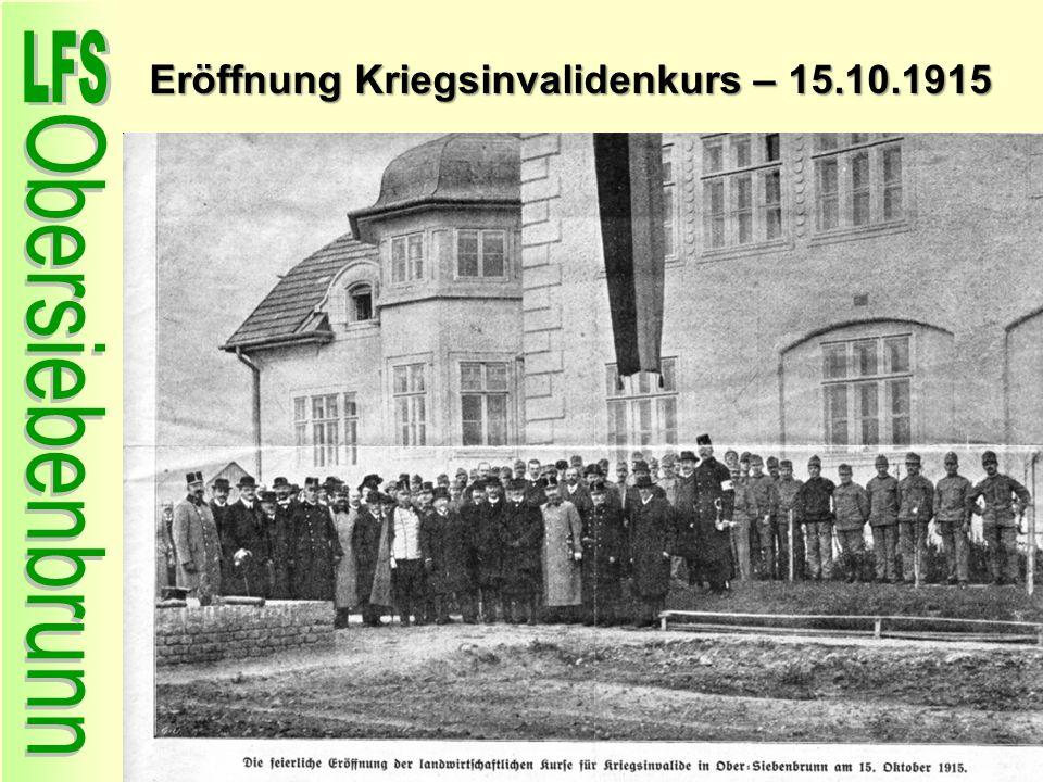 Eröffnung Kriegsinvalidenkurs – 15.10.1915