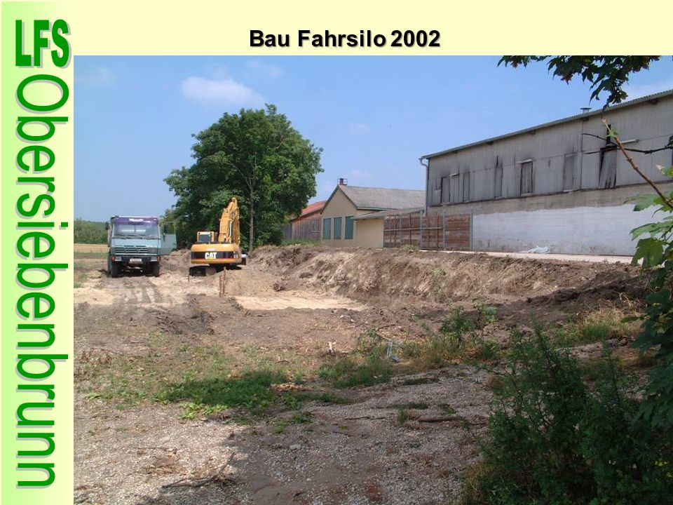 Bau Fahrsilo 2002