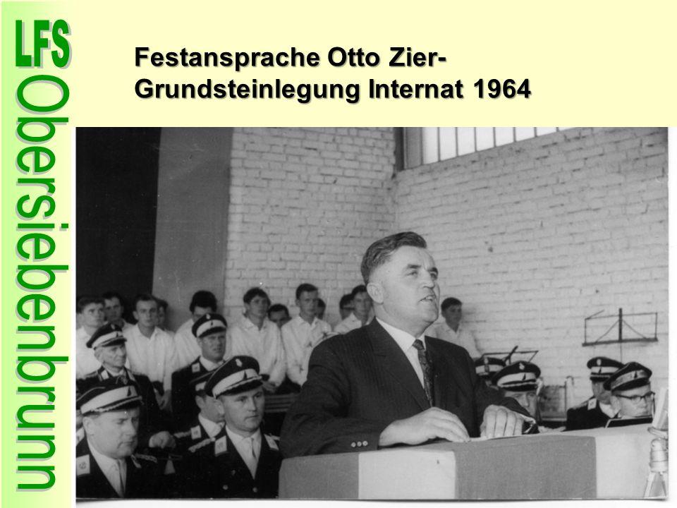 Festansprache Otto Zier- Grundsteinlegung Internat 1964