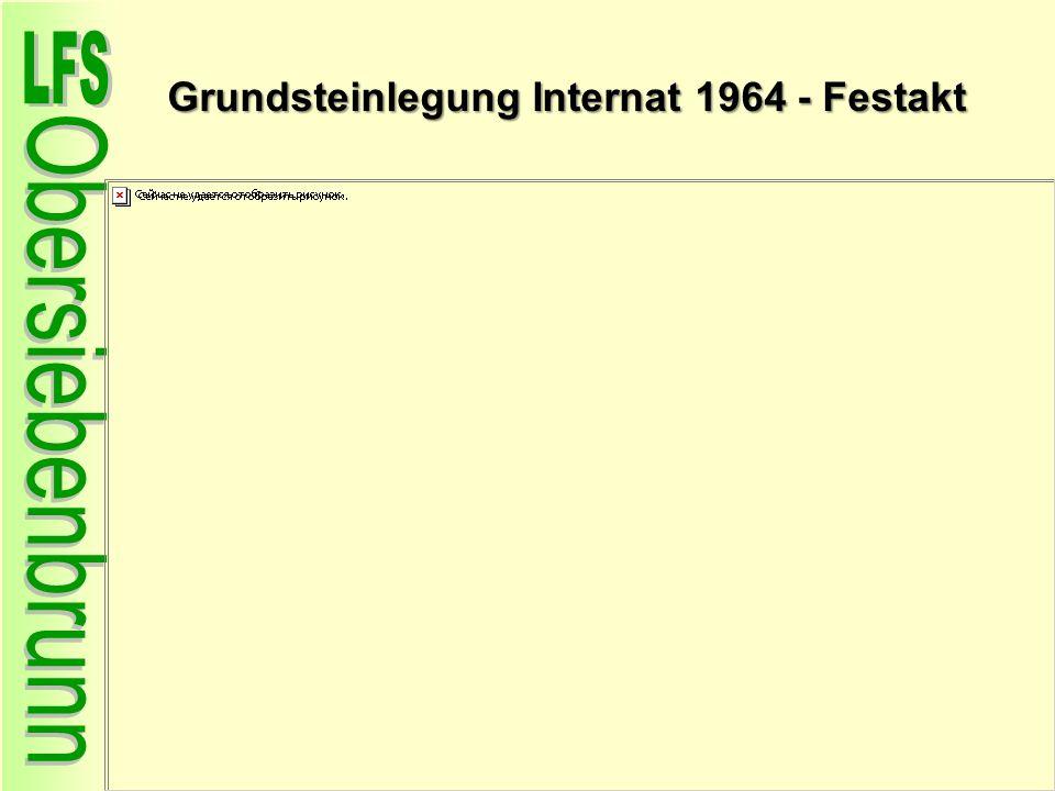 Grundsteinlegung Internat 1964 - Festakt