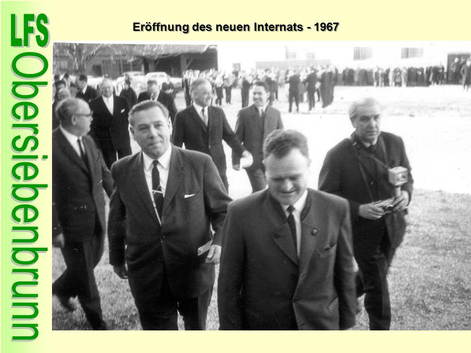 Eröffnung des neuen Internats - 1967