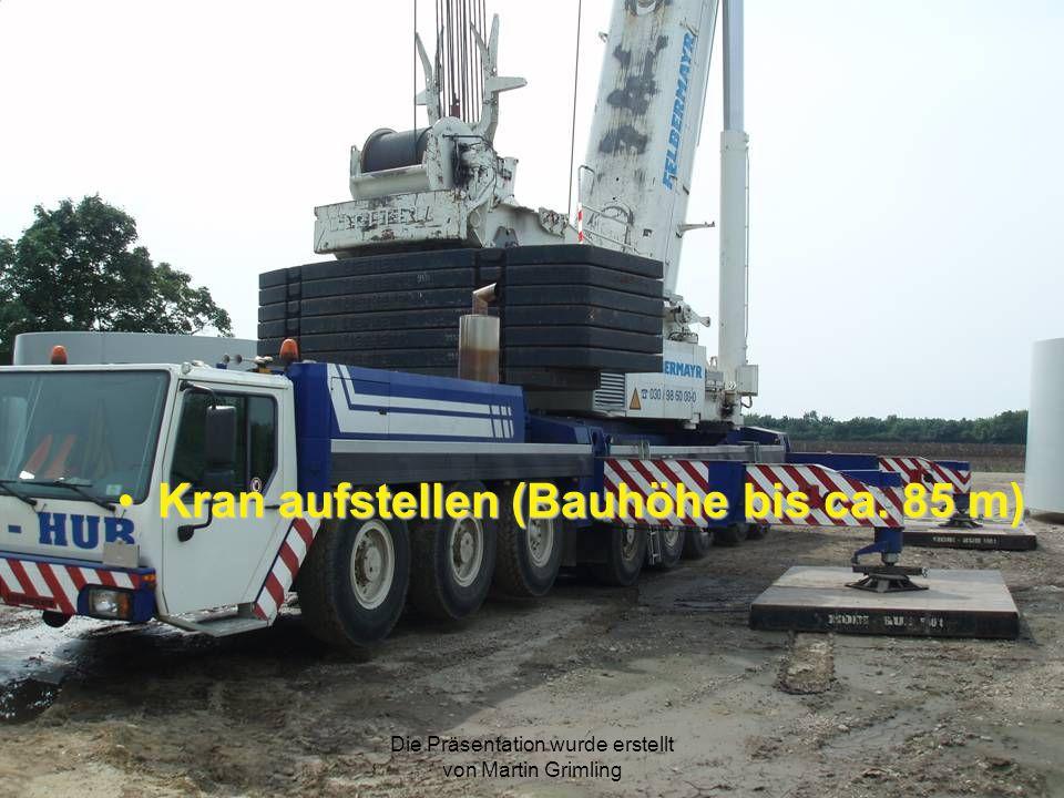 Kran aufstellen (Bauhöhe bis ca. 85 m)Kran aufstellen (Bauhöhe bis ca. 85 m)