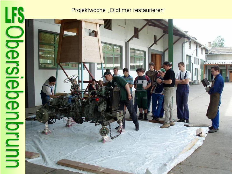 Projektwoche Oldtimer restaurieren