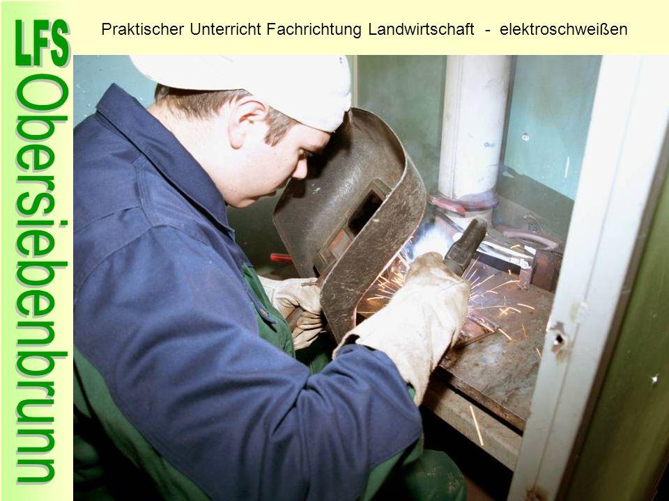 Praktischer Unterricht Fachrichtung Landwirtschaft - elektroschweißen