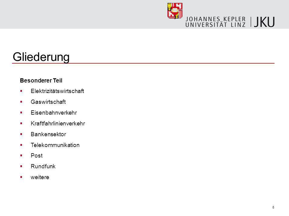 6 Links Linkliste: Beispiele öffentlicher Unternehmungen BUND http://www.bmf.gv.at/Budget/Budgets/2007/beilagen/Beilage_N.pdfhttp://www.bmf.gv.at/Budget/Budgets/2007/beilagen/Beilage_N.pdf, http://www.oeiag.at/asp/beteiligungen.asp http://www.oeiag.at/asp/beteiligungen.asp LAND OÖ http://www1.land-oberoesterreich.gv.at/budget/ra2006/Download/anl9b.pdf STADT LINZ http://www.linz.at/politik_verwaltung/34211.asp#linz_ag Beispiele von Regulierungsbehörden http://www.rtr.at http://www.e-control.at