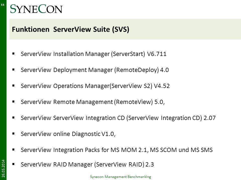 Funktionen ServerView Suite (SVS) ServerView Installation Manager (ServerStart) V6.711 ServerView Deployment Manager (RemoteDeploy) 4.0 ServerView Ope