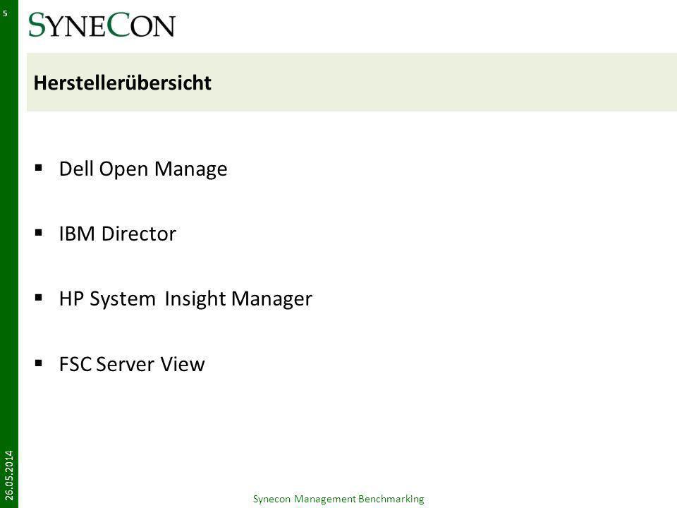 VMM Performance 26.05.2014 Synecon Management Benchmarking 36