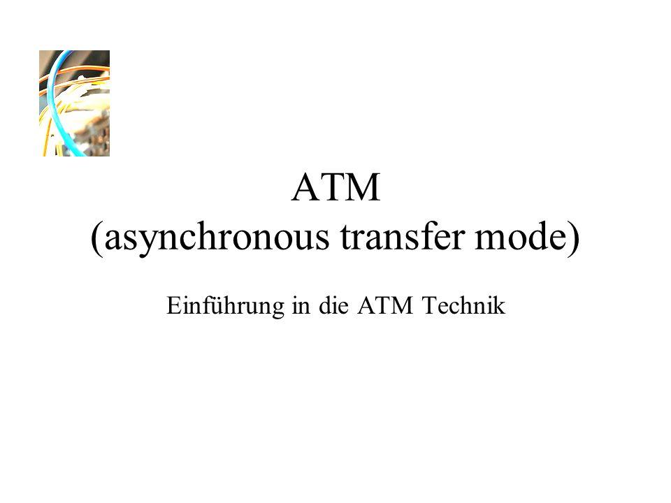 ATM (asynchronous transfer mode) Einführung in die ATM Technik