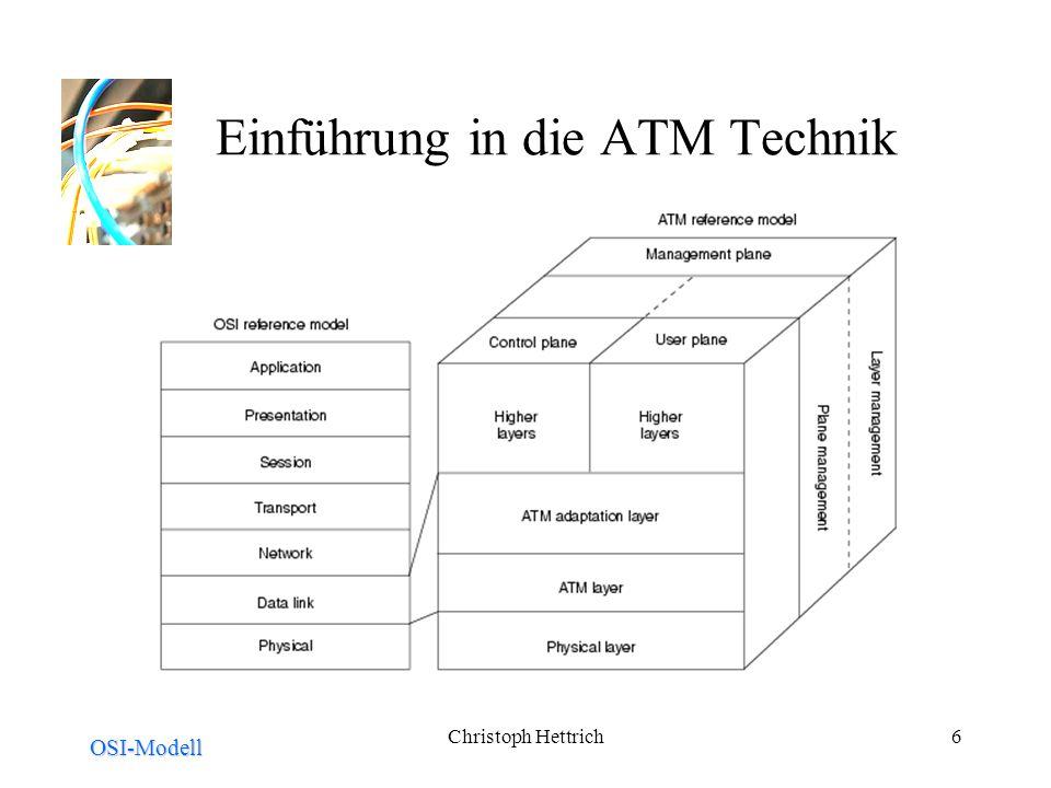 Christoph Hettrich6 Einführung in die ATM Technik OSI-Modell