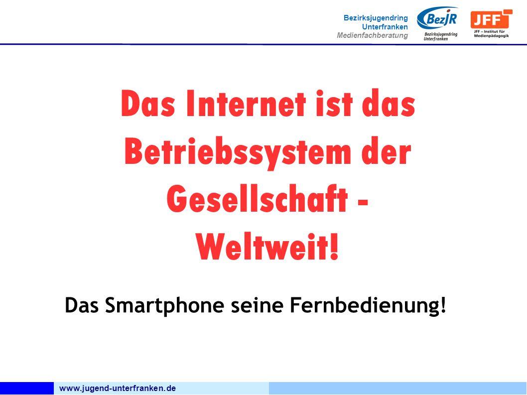 www.jugend-unterfranken.de Bezirksjugendring Unterfranken Medienfachberatung Das Internet ist das Betriebssystem der Gesellschaft - Weltweit! Das Smar