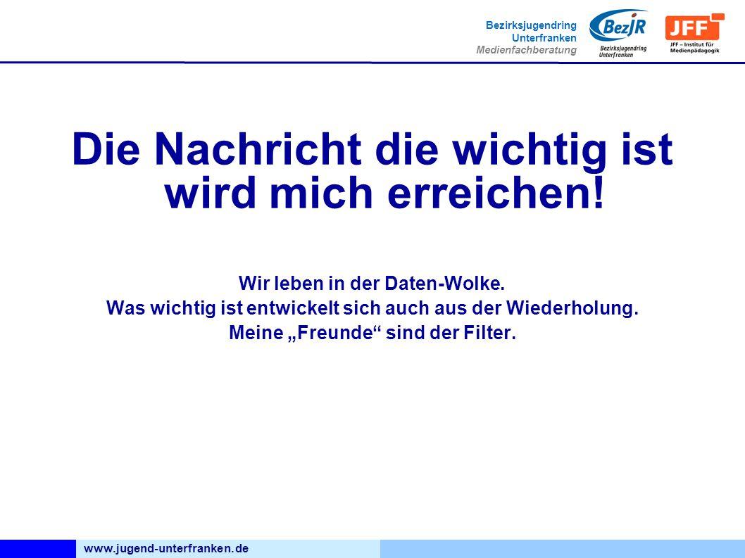 www.jugend-unterfranken.de Bezirksjugendring Unterfranken Medienfachberatung Die Nachricht die wichtig ist wird mich erreichen.