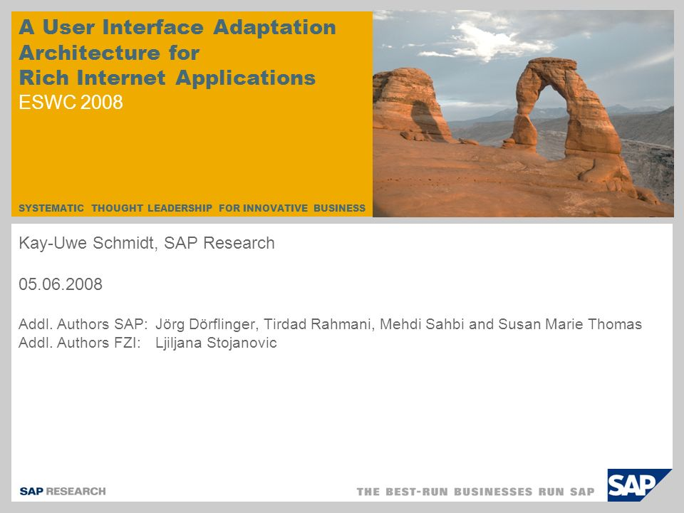 © SAP 2008 / Kay-Uwe Schmidt / Page 2 1.The Evolution of Rule-based Web Applications 2.
