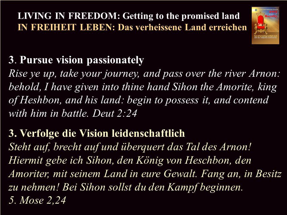 PR LIVING IN FREEDOM: Getting to the promised land IN FREIHEIT LEBEN: Das verheissene Land erreichen Copyright CIC 2009 4.