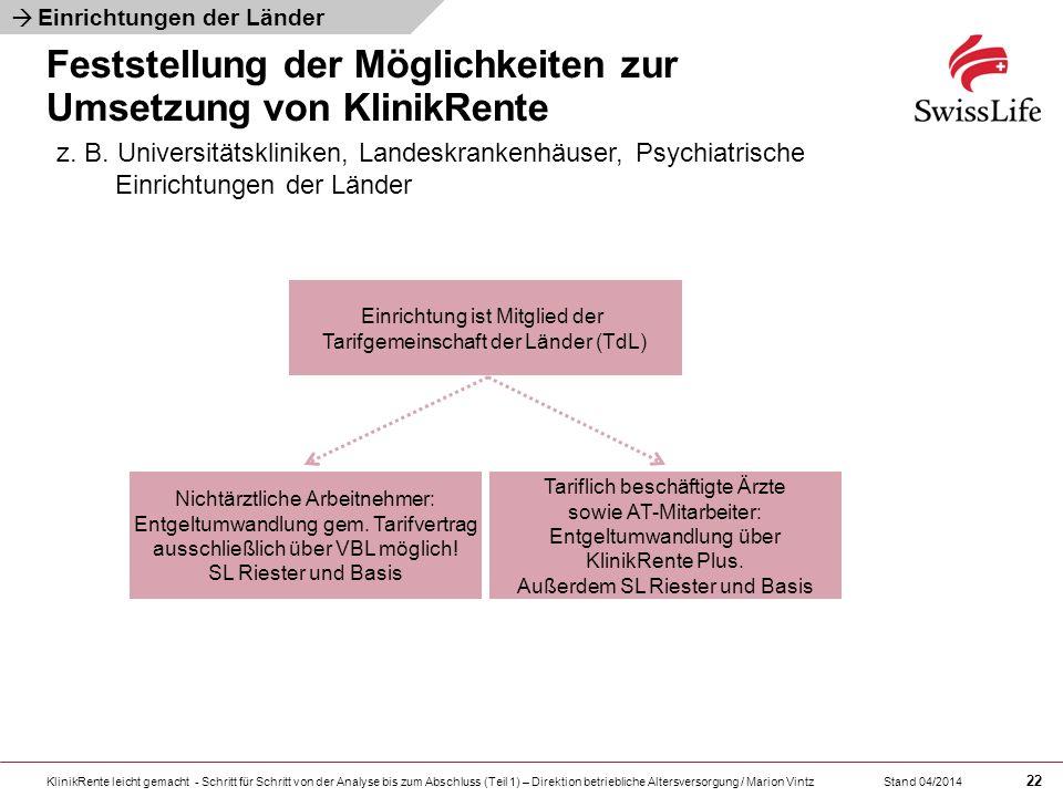 KlinikRente leicht gemacht - Schritt für Schritt von der Analyse bis zum Abschluss (Teil 1) – Direktion betriebliche Altersversorgung / Marion Vintz 2