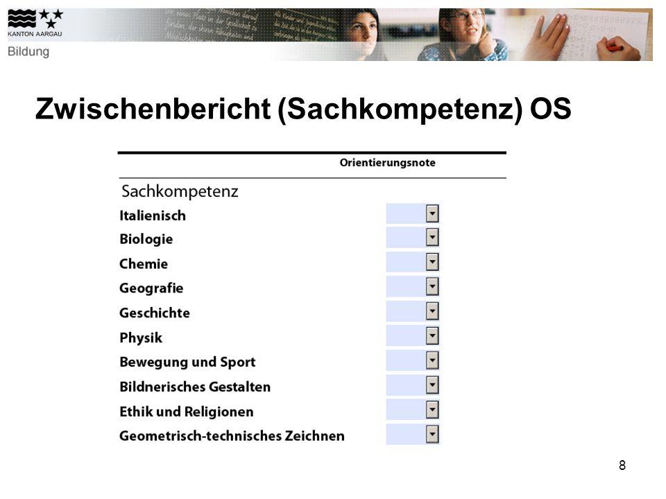 8 Zwischenbericht (Sachkompetenz) OS