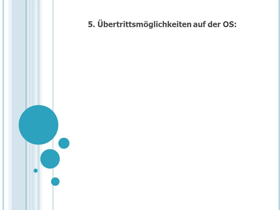 5. Übertrittsmöglichkeiten auf der OS: