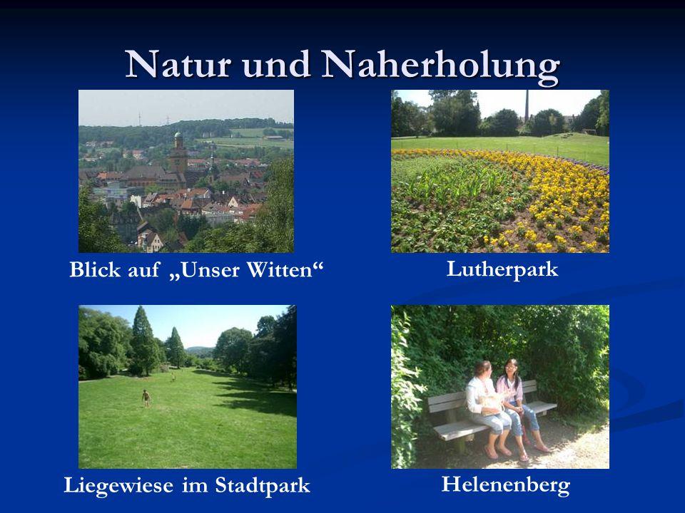 Natur und Naherholung Blick auf Unser Witten Lutherpark Liegewiese im Stadtpark Helenenberg