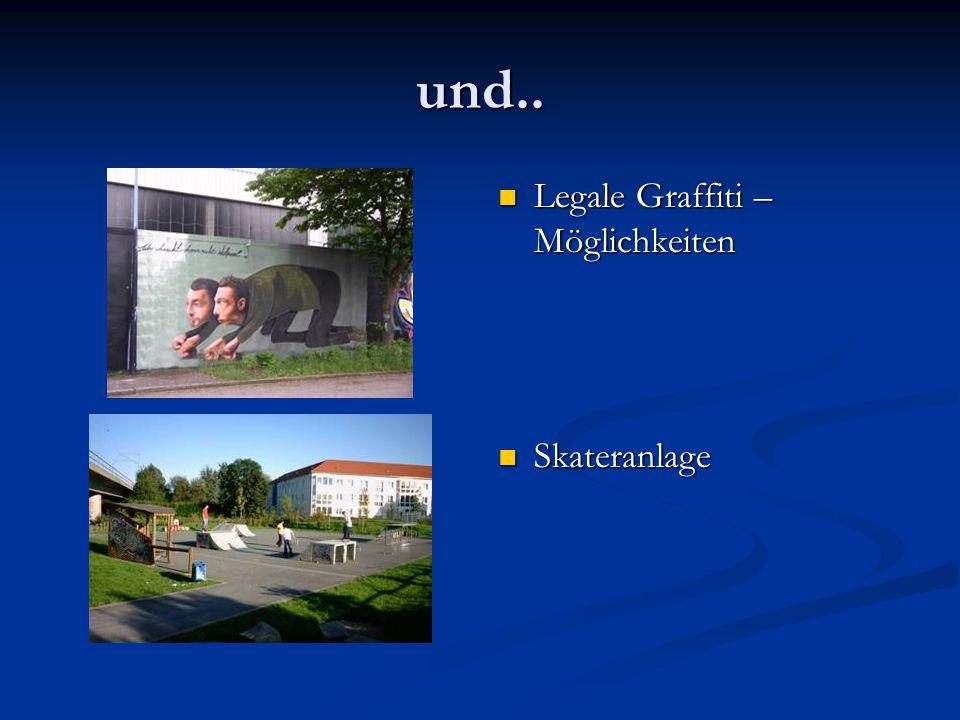 und.. Legale Graffiti – Möglichkeiten Skateranlage