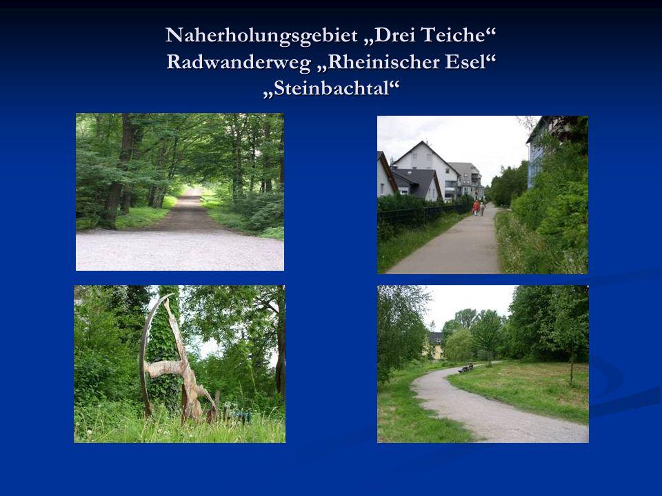 Naherholungsgebiet Drei Teiche Radwanderweg Rheinischer Esel Steinbachtal
