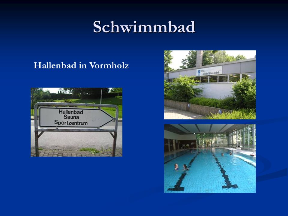 Schwimmbad Hallenbad in Vormholz